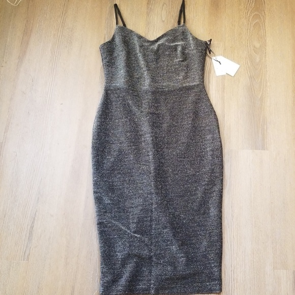 1. State Dresses & Skirts - 1.State Silver Dress sz 6 NWT